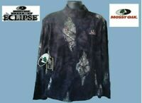 Men's Fleece Jacket Full Zipper Front Mossy Oak Eclipse Various Size New! Tags!