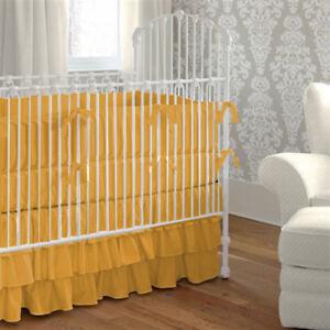 5pc Unisex Baby Bedding Set Fitted Ruffle Skirt Comforter Pillowcase Bumper