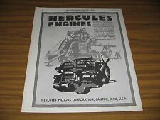 1930 Print Ad Hercules Engines Motors Corporation Canton,OHIO