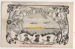 1909 Postcard Early AVIATION, Rougher - Latham - D.F. Lambert - Paulhan - etc