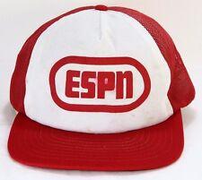Original ESPN Logo Old School Vintage MESH Snapback Trucker Hat Baseball Cap
