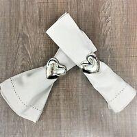 Set of 2 Luxury Heart Napkin Rings by Walton