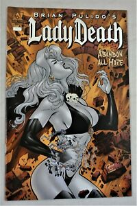 LADY DEATH ABANDON ALL HOPE #4 Platinum Foil Variant Ron Adrian Cover NM
