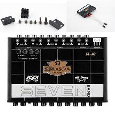 Car Audio 7-band Graphic Equalizer Pre Amp EQ Sub Crossover 12ch 12v Line Driver
