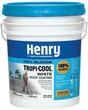 100% Silicone Roof Coating Henry Tropi-Cool 4.75 Gal. 887 White Lower Roof Temp