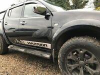 Mitsubishi Warrior L200 side stripes graphics set stickers decals TRITON 4x4