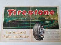 1963 Firestone Tires Turnpike Trips Automobile Service Original Ad