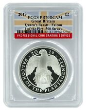 2019 Great Britain 1oz Silver Queens Beast Falcon PCGS PR70 1 of First 500
