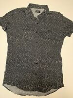 Stussy Short Sleeve Shirt. Size Large. Black & White.