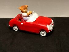 """Rare 1987 Lucy Rigg Enesco Music Box, """"Love Me Tender� Driving Red Convertible"""