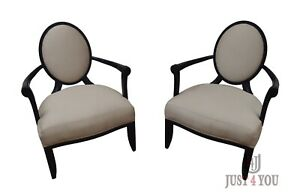 Pair Barbara Barry for Baker Arm Chairs