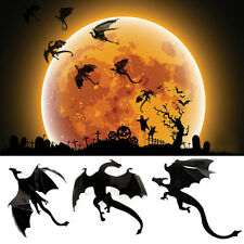 7Pcs / Lot Gothic Wallpaper Stickers Game Power inSpired 3D Dragon Decoration