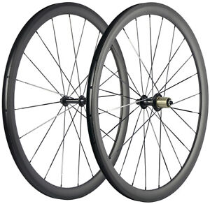 700C 38mm Road Bike Carbon Wheels 23mm Clincher Road Bike Carbon Wheelset UD Mat