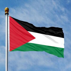 """150x90cm Palestine Flag Free Gaza Palestinian Freedom 5"""" x 3 """" Flag 2 Eyelets"""