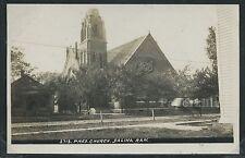 KS Salina RPPC 1910's PRESBYTERIAN CHURCH Saline Co. by J. Bowers No.2713