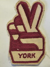 """York"" Football Soccer Club Supporter Fan Sew on Cloth Patch Badge 1970's"