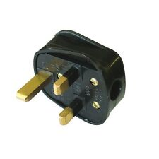 NEW UK FUSED STANDARD 13AMP 13A BLACK 3 PIN MAINS HOUSEHOLD PLUG FAST POSTAGE