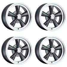 Set 4 Vision 141 Legend 5 Gunmetal Classic Rims 15x7 5x4.5 -7mm Ford Dodge 5 Lug
