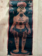 Antique Nepal Medicine Man Original Painting Art scroll
