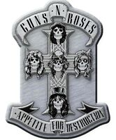 GUNS N' ROSES METALL PIN # 3 APPETITE FOR DESTRUCTION ANSTECKER BADGE BUTTON
