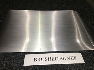 A4 SELF ADHESIVE INKJET PRINTABLE BRUSHED SILVER EFFECT VINYL STICKER (5 SHEETS)