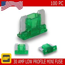 100 Pack Low Profile Mini Blade Fuse 30 Amp Marine SUV Truck Auto RV Automotive