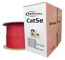 Bulk Cat5e Plenum 1000ft Solid UTP Cable 350MHZ 24AWG CMP Wire   Red