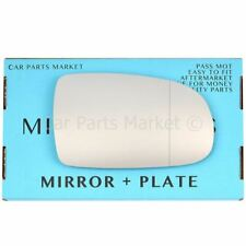 For Vauxhall Tigra 04-09 Right side Aspheric wing door mirror glass with plate