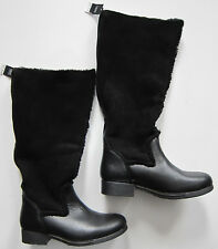 New Womens Leather & Suede Black NEXT Boots Size 6.5 RRP £150