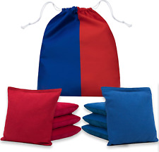 Professional Cornhole Bags - Double Sided Slick and Stick Beans Bags Set of 8