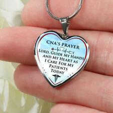 CNA's Prayer Birthday Gift For Women Mother Aunt, Novelty Heart Pendant Necklace