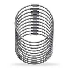 Cable Wire Loop Luggage Tag Loops - Stainless Steel Metal Wire Straps 10 pieces