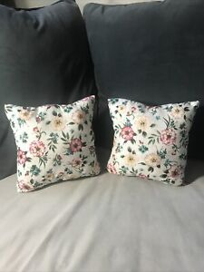 New Handmade Throw Decorative Pillow Set Of 2 (10 Inch X 10 Inch) Floral Print