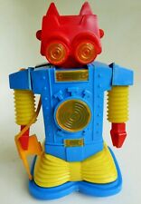 """RARE CRAGSTAN RANGER ROBOT PLASTIC BATTERY OPERATED TOY WITH PLASTIC GUN 8"""""""