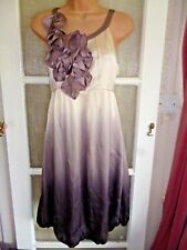 PRINCIPLES PURE SILK BARE SHOULDER OMBRE SHADED PARTY DRESS - CORSAGE DETAIL 12