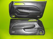 97 98 99 00 01 Prelude SH black leather door panels cards driver passenger OEM