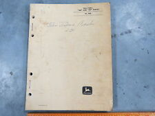 John Deere 420 430 Tractor Parts Manual Catalog Pc-505 two cylinder 1963