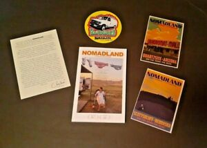 FYC NOMADLAND Best Adapted Screenplay Chloe Zhao + note, postcards, sticker RARE