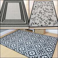Modern Flatweave Grey in 3 Designs Rug in Various sizes Indoor - Outdoor Carpet