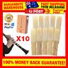 10pcs Clarinet Reeds 2.5 Strength Clarinet Reed Part Traditional Bamboo Reeds