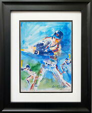 """LeRoy Neiman """"Lenny Dykstra"""" Newly CUSTOM FRAMED art New York 1986 Mets NY Nails"""