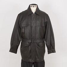 Men's WILSONS Leather Jacket Size M Medium Black Removable Liner Belt