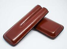 Cigar Premium brown leather case for 2 cigars Stylish Smokers Accessories