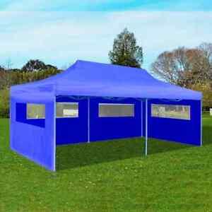 vidaXL Foldable Pop-up Party Tent 3x6m Blue Outdoor Gazebo Marquee Pavilion