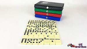 Set of 28 Double Six Dominoes Mini Travel Fun Games 3144