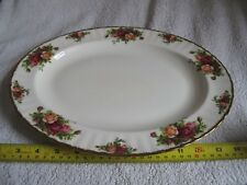 "Royal Albert "" OLD COUNTRY ROSES "" Large Oval Plate   made in England   *"