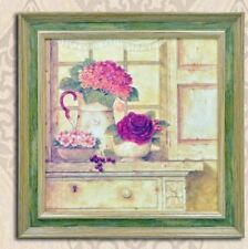 Home Decor Wall Painting Picture Canvas Wooden Frame Wall Art Flower on Vase
