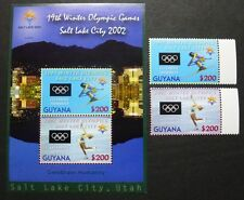 Guyana 2002 Olympiade Salt Lake City Olympics 7401-2 Block 736 MNH
