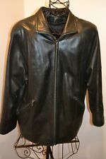 Valerie Stevens Womens Lined Genuine Lamb Leather Black