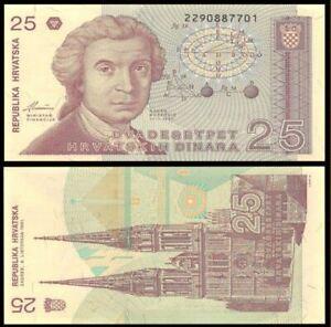 Croatia (Republika Hrvatska) 1991 25 Dinara (Gem UNC)